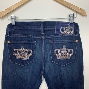 Rock and Republic Crown design Jeans